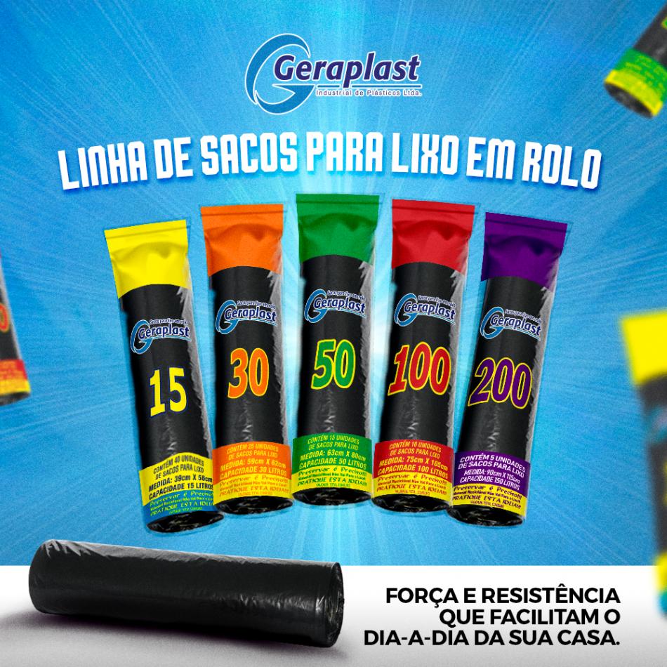 Linha de Sacos para Lixo em Rolo - Geraplast - Industrial de Plásticos