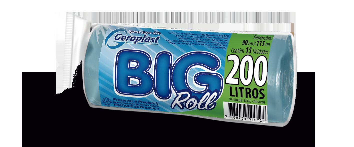 <BIG ROLL 200 Litros - Geraplast - Industrial de Plásticos