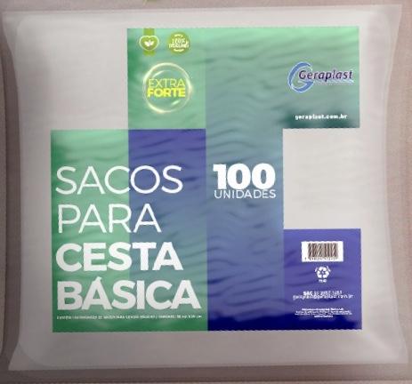 <Sacos para Cesta Básica  - Geraplast - Industrial de Plásticos